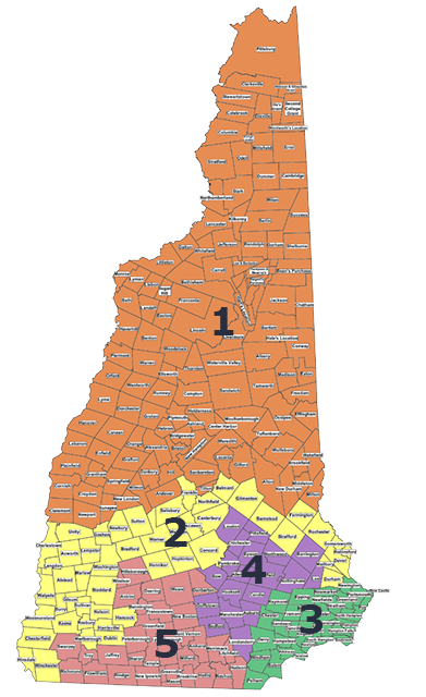 Executive Council districts map